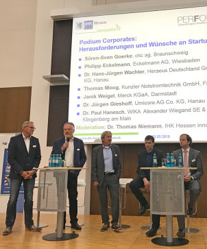 Podiumsdiskussion Startup meets processes, 03.05.2018